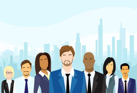 lider: Gente de negocios Grupo de Personas diversas Vector