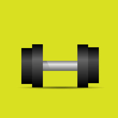 dumbbell sport weights flat icon vector Vector