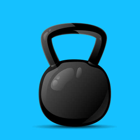 weights: dumbbell sport weights flat icon vector