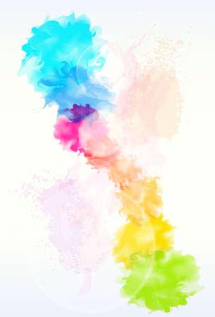 festékek: festék színesíti absztrakt háttér Illusztráció