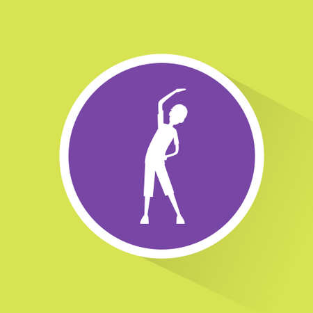 man exercise: sport fitness man exercise workout flat icon Illustration