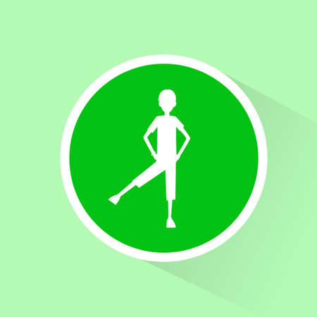 man exercise: sport fitness man exercise workout green flat icon