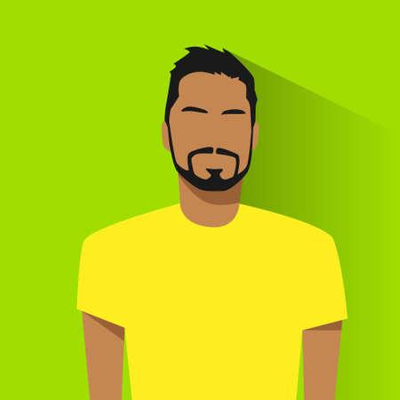 man face profile: profile icon male hispanic avatar portrait casual