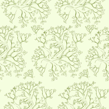 tree branch: tree branch pattern green vector seamless texture
