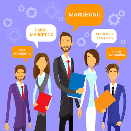 marketing team: Marketing Team Concept Business People Group