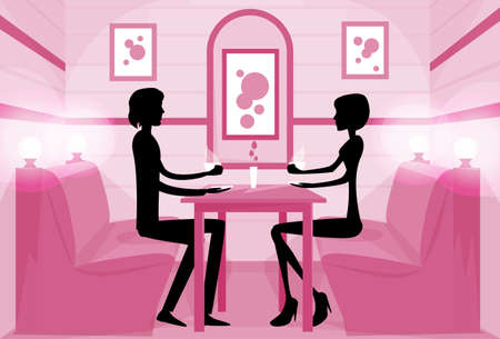 cafe table: Couple Sitting Cafe Table Drink Coffee Romantic Love