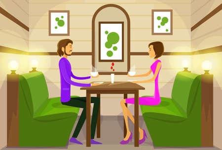 Pareja Sentado Cafe Tabla café de la bebida Citas Amor Romántico