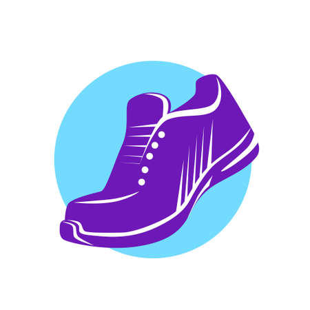 running shoe: Sneaker Sport Running Shoe Flat Icon Vector