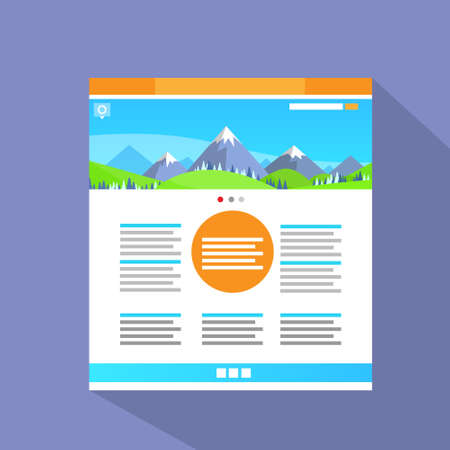 web site: Internet Web Site Page Flat Icon Vector