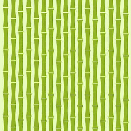 green bamboo: Green Bamboo Tree Background Flat Vector Illustration