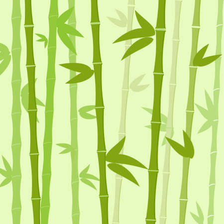bamboo leaves: Green Bamboo Tree Leaves Background Flat Vector Illustration