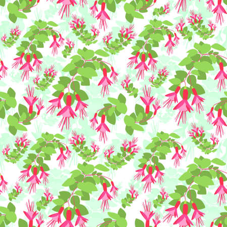 red' green: Red Green Flower Seamless Pattern Vector Illustration