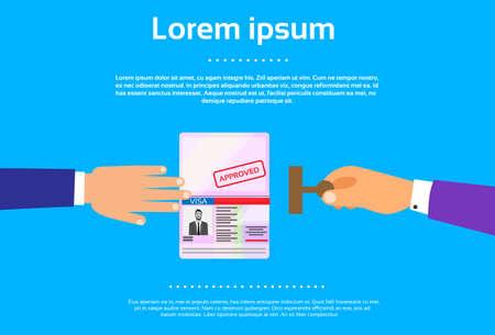 passeport: Passeport Stamp Ic�ne plat affaires Main