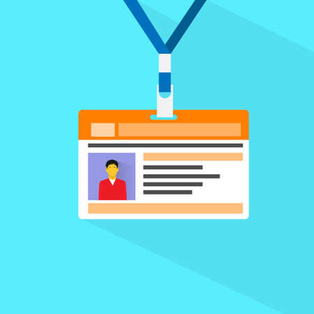 business name: Id Card Profile Data Photo Flat Vector
