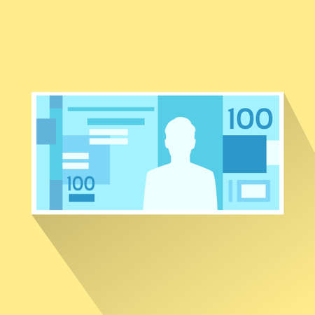 paper wad: Brazilian Real Banknote Flat Design with Shadow