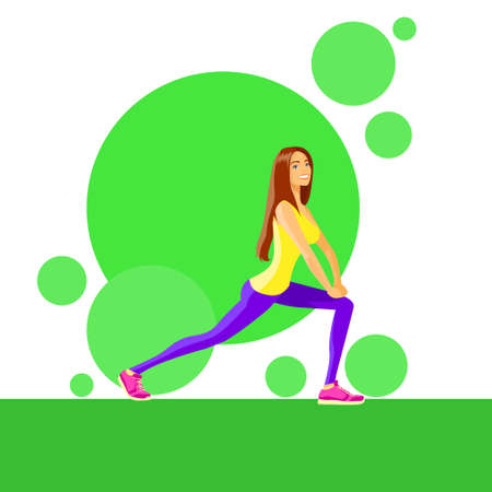 trainer: Sport Woman Fitness Girl Exercise Workout Trainer Illustration
