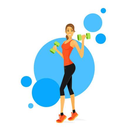 bicep: M�sculos Deporte Mujer Mostrar b�ceps entrenador f�sico