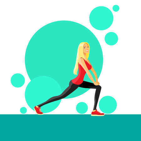 shaping: Sport Woman Fitness Girl Exercise Workout Trainer Illustration