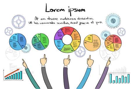 montrer du doigt: Infographies Logo Personne main Dessiner point Finger