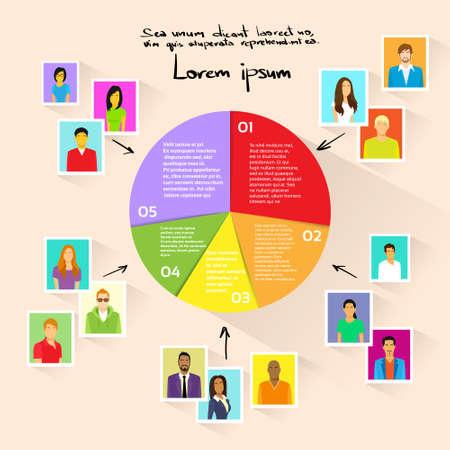 social media marketing: C�rculo Pie Diagrama Gente Social Media Marketing Group Target