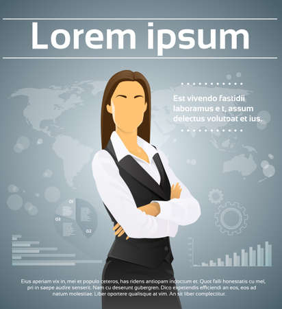 Businesswoman Executive Finance Infographic Background
