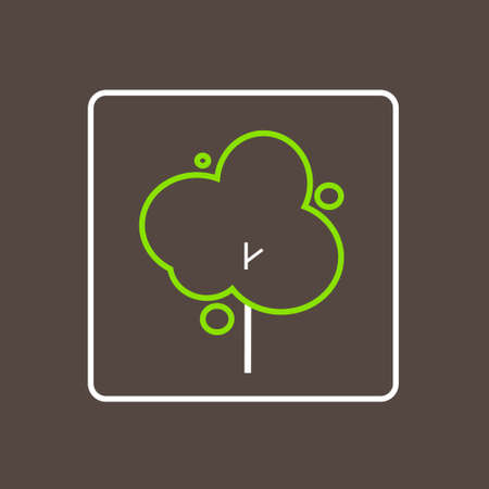 simple logo: Tree Icon Thin Line Simple Logo Minimalistic Style Vector