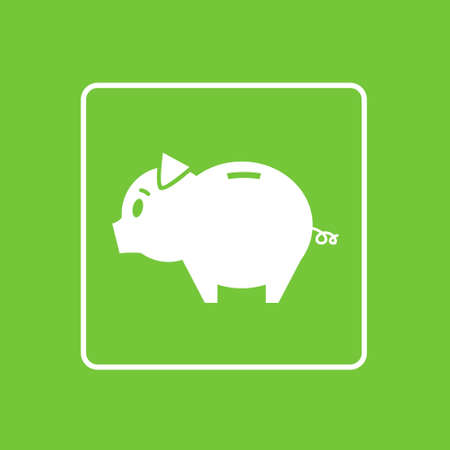 simple logo: Piggy Bank Icon Thin Line Simple Logo Minimalistic Style Illustration