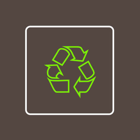 simple logo: Recycle Icon Thin Line Simple Logo Minimalistic Style