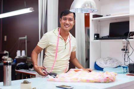 Asian man tailor fashion clothes dress designer