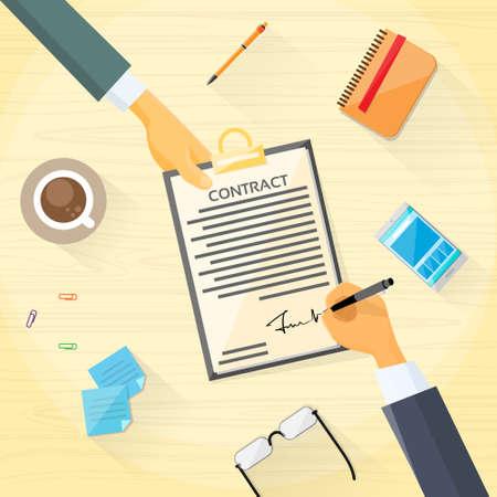 contrato de trabajo: Contrato Suscríbete Business Document Acuerdo Gente de papel