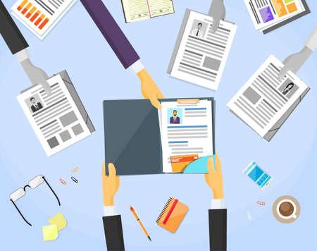 entrevista de trabajo: Resouce humano Lugar de Trabajo Documentos Escritorio Curriculum Vitae