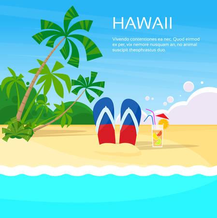 hawaii: Flip-flops on a beach during summer