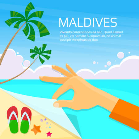 maldives island: Maldives Tropical Island Summer Vacation Paradise