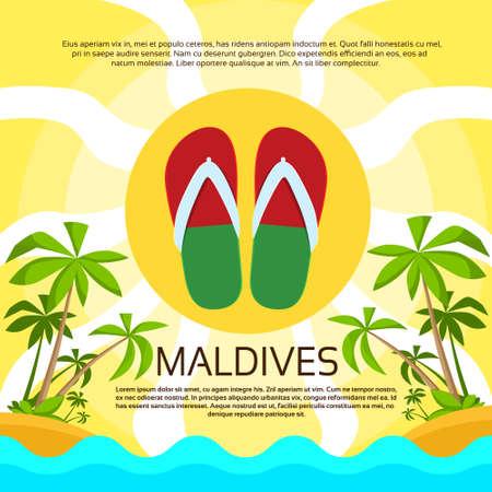 maldives island: Flip-flops on a Tropical Island in Maldives