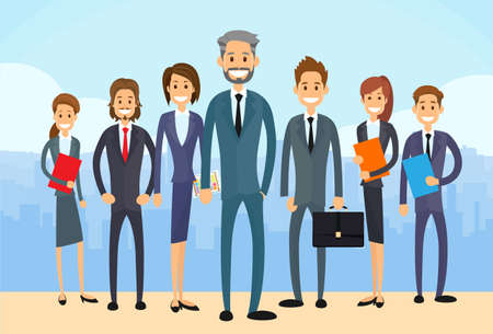 leadership: Group Diverse of Business People  Illustration