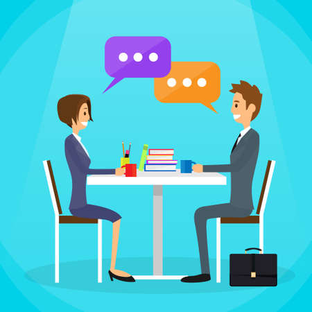 Business People Talking Discutendo Vettoriali