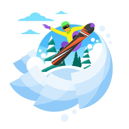sliding: Snowboarder Sliding Down Hill