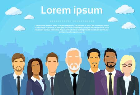 ejecutivos: Los hombres de negocios de alto nivel Vectores