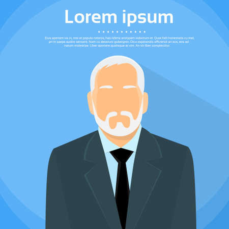 male face profile: Senior Businessman Boss Illustration