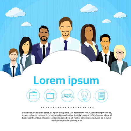 Business People in Group Ilustracja