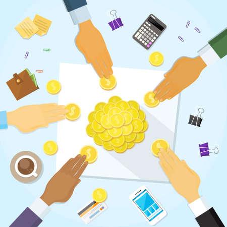 funding: Coins Money on Desk