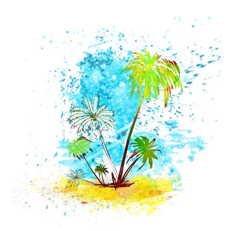 Palm Tree Tropical Island