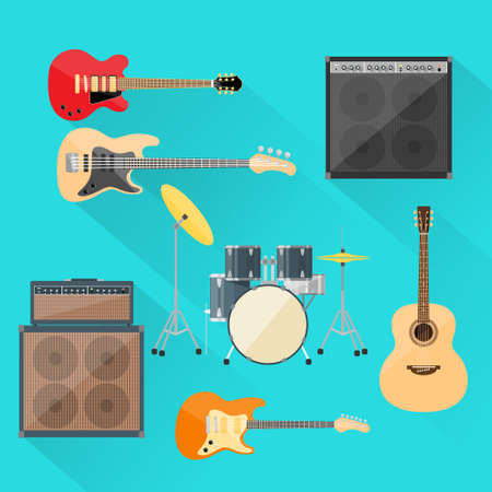 the rock: Musical Instruments Set