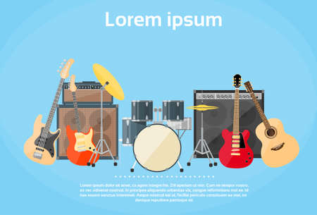 drums: Musical Instruments Set
