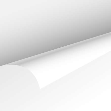 bend: Blank Paper Sheet Curl Corner, Empty Page Bend Vector illustration