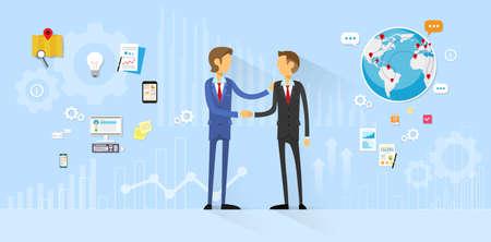Business People Handshake Vectores