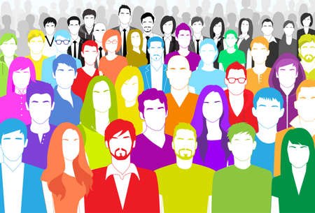 diverse business team: Group of People Illustration