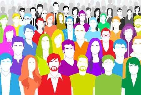 menschenmenge: Gruppe von Personen