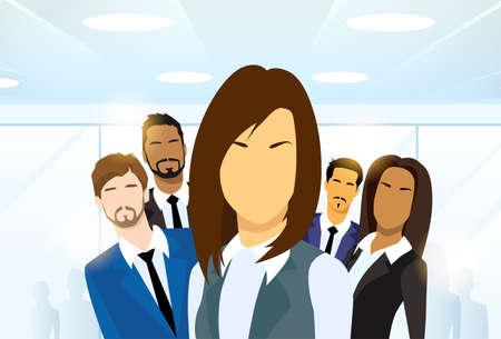 diversidad: Mujer de negocios en grupo