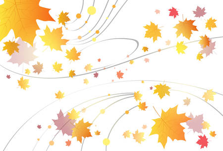 copy space: Maple Leaf Autumn Abstract Background Vector Illustration